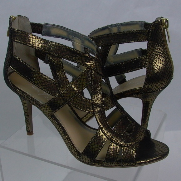 bbc2384fa3 Marc Fisher Shoes | Mid Heel Evening Sandal Nala3 | Poshmark